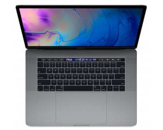 "Apple MacBook Pro 15 refurbished laptop · I7-8750H · 16GB · 256GB SSD · 15.4"" RETINA · Touch Bar · Space Gray · Grade A"