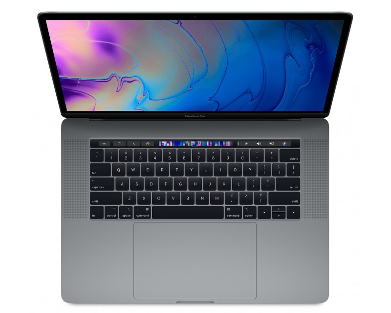 "Apple MacBook Pro 15 refurbished laptop · I7-8850H · 16GB · 512GB SSD · 15.4"" RETINA · Touch Bar · Space Gray · Grade A"